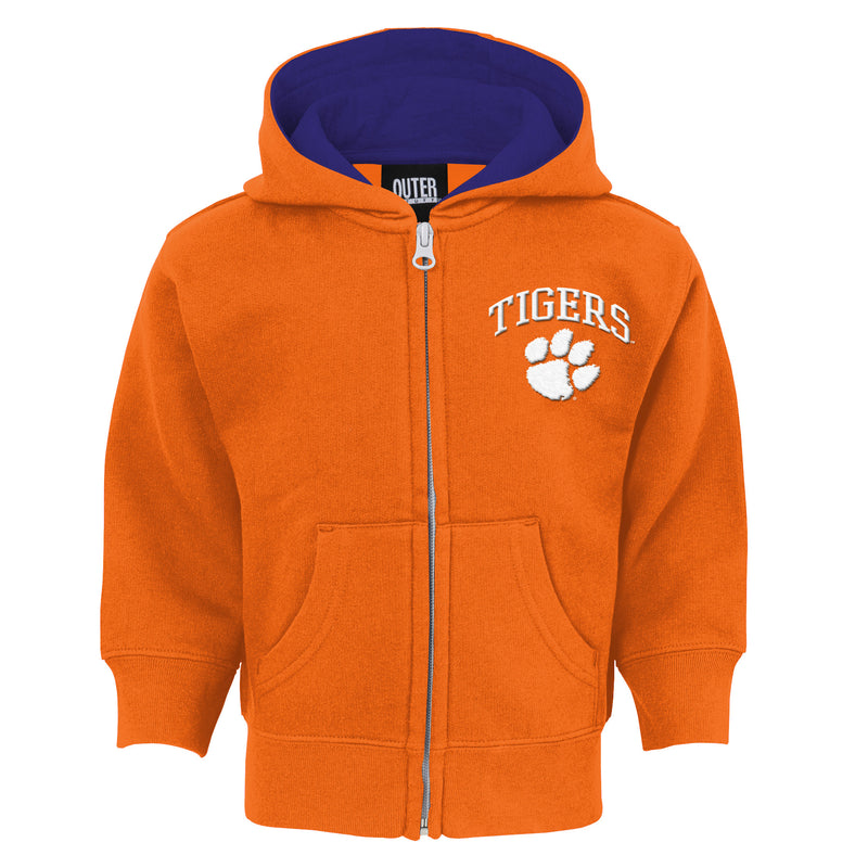 Clemson Tigers Infant Zip Up Hooded Sweatshirt