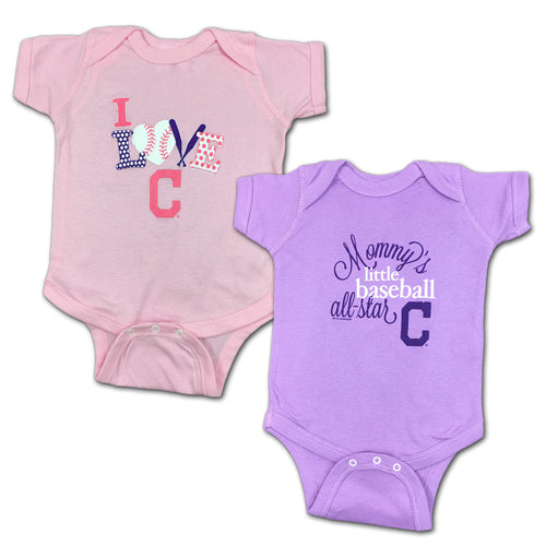 Indians Mommy's Little Baseball Allstar 2-Pack