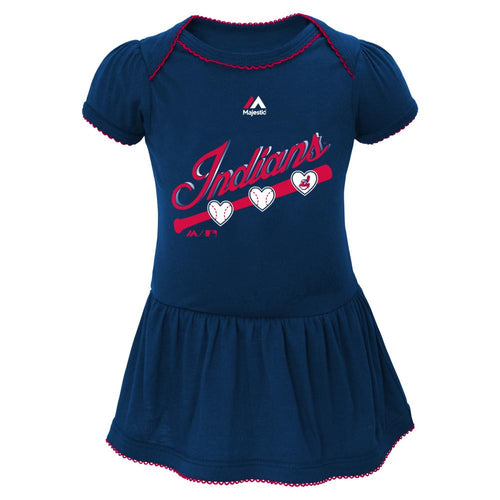 Indians Triple Play Baby Dress