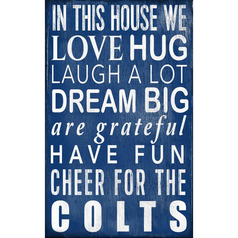 Colts In This House Wall Decor – babyfans