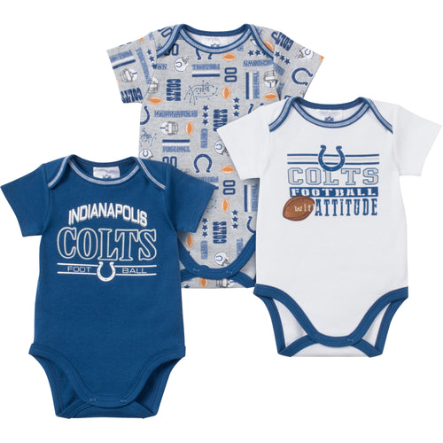 Baby Colts Fan Onesie 3 Pack