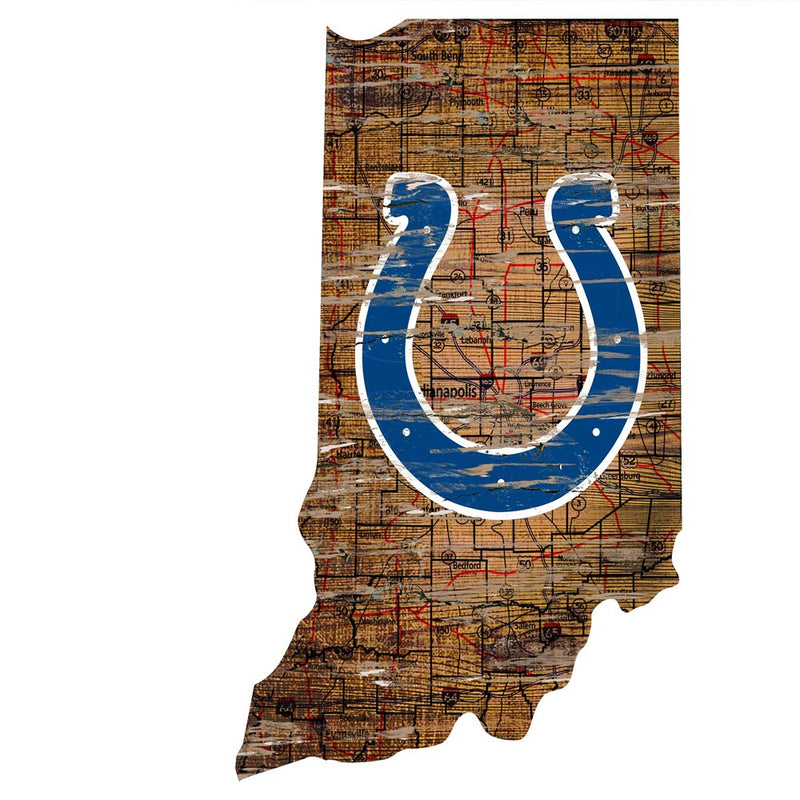 Colts Room Decor - State Sign