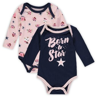 Cowboys Girls 2 Pack Long Sleeve Bodysuits