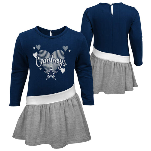 Cowboys Girls Heart Jersey Dress