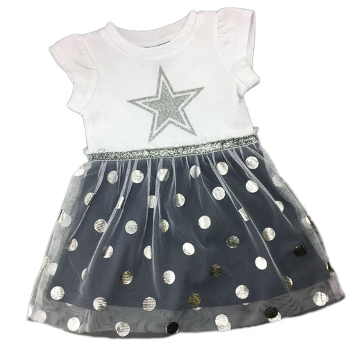 Cowboys Glitter & Tulle Dress