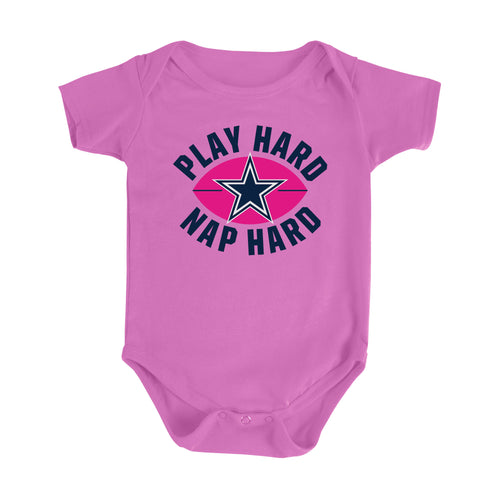 Cowboys Play Hard, Nap Hard Girls Bodysuit