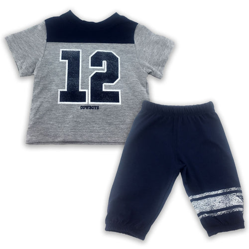Dallas Cowboys Short Sleeve Tee & Pants Set
