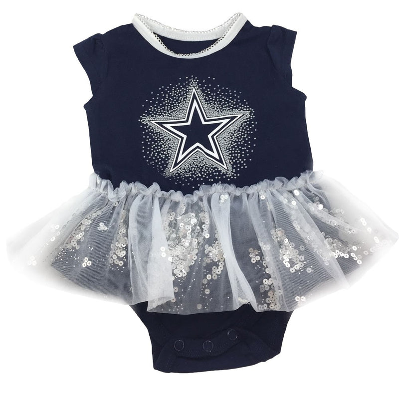 Cowboys Glittery Infant Tutu Bodysuit