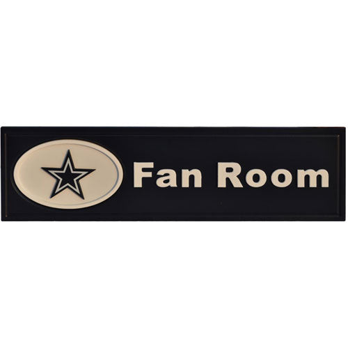 Cowboys 3-D Wood Fan Room Sign