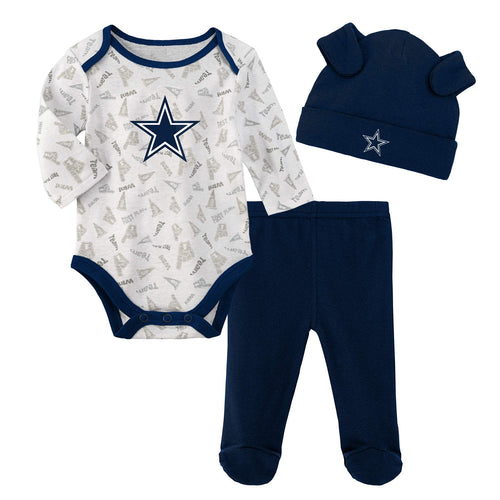 Cowboys Bodysuit, Pants and Cap Set