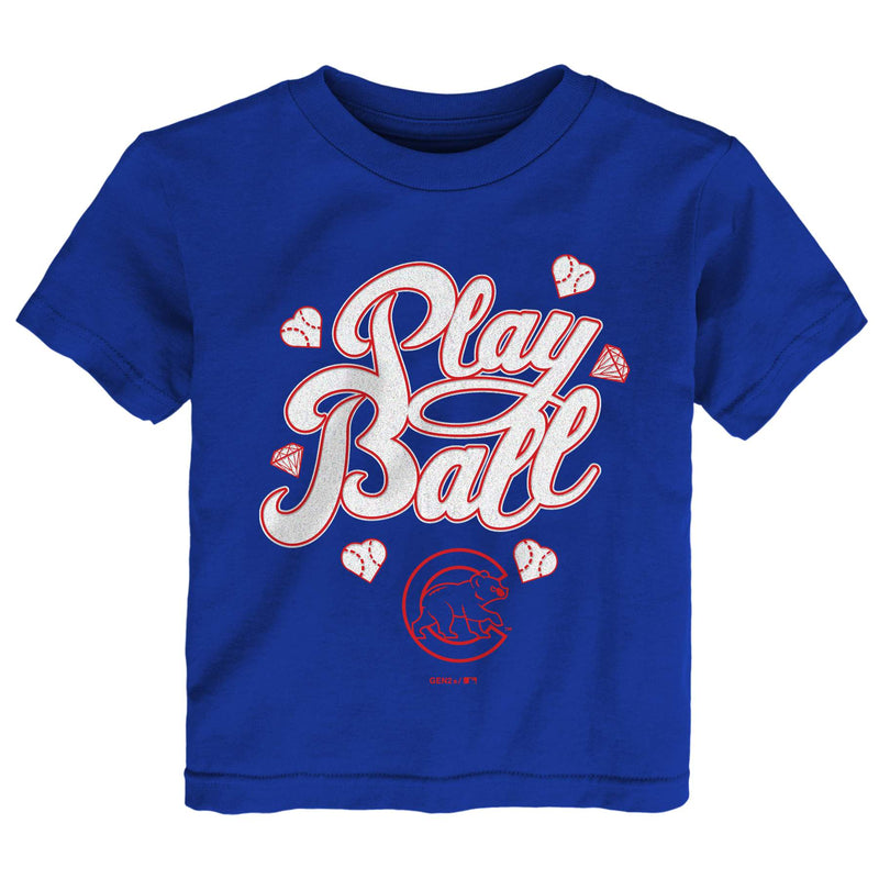 Cubs Girl Play Ball Tee