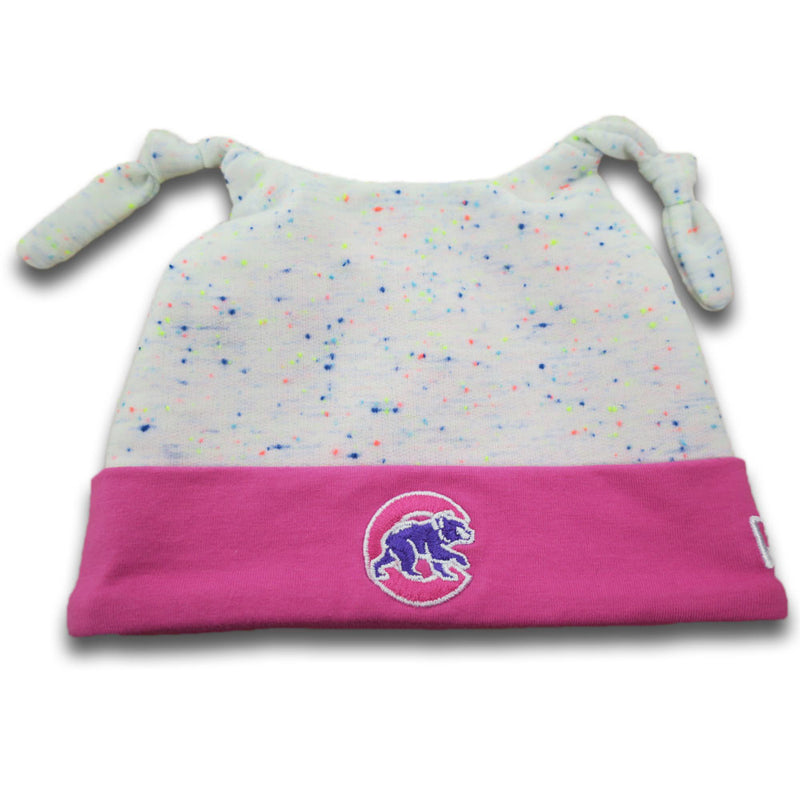 Cubs Newborn Speckled Beanie (Pink)