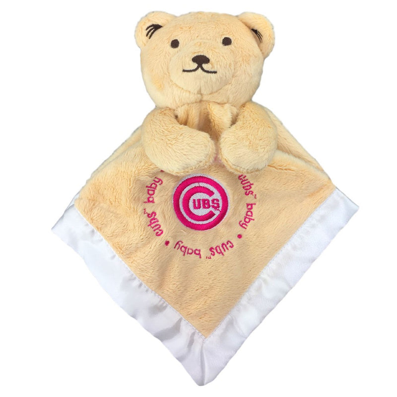 Embroidered Cubs Baby Pink Logo Security Blanket