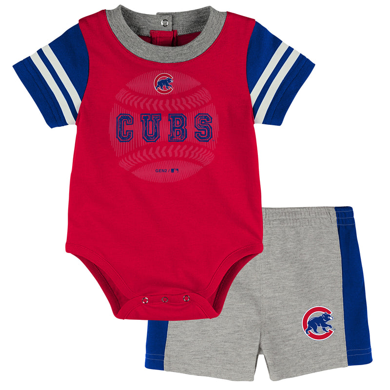 Cubs Baby Boy Bodysuit with Shorts