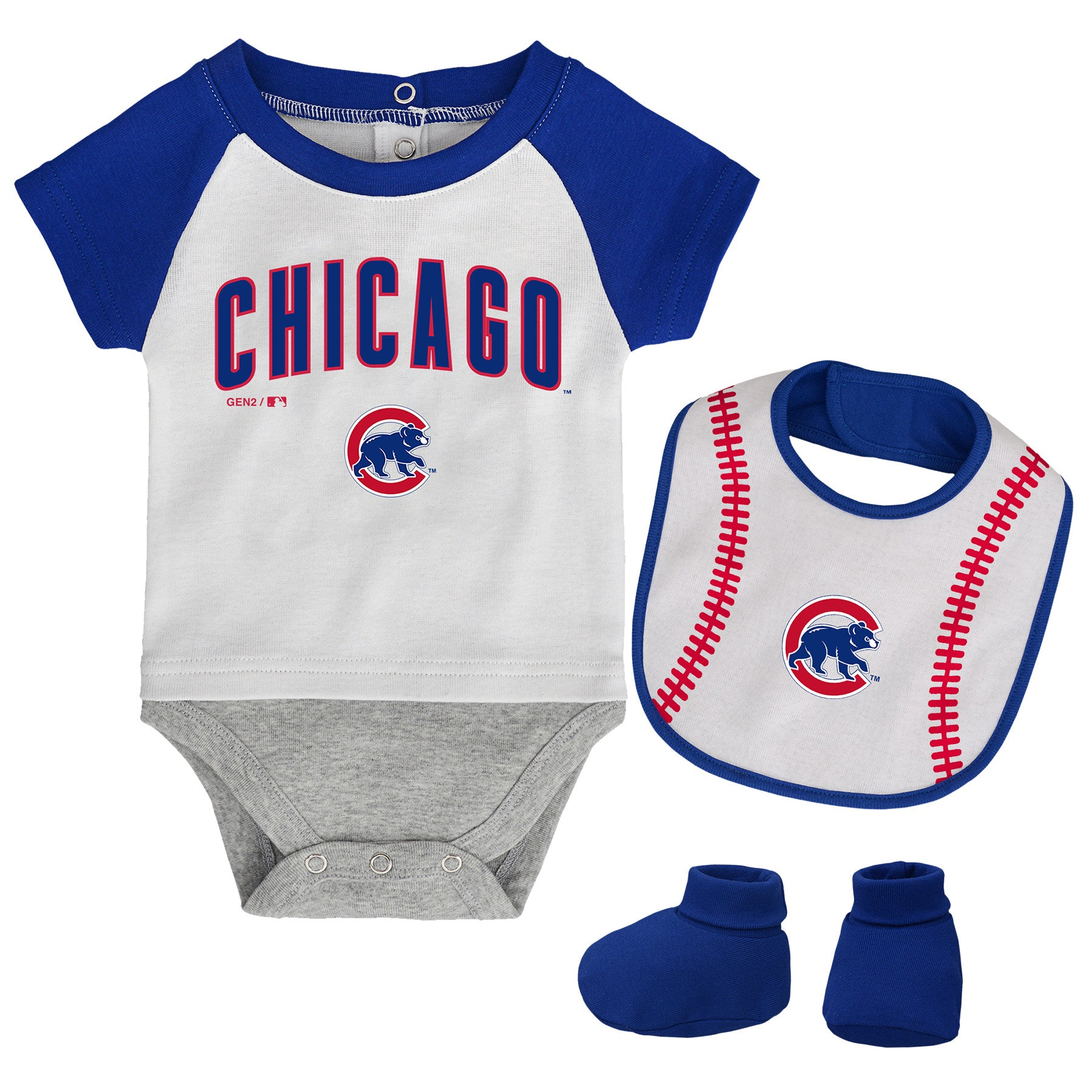 super popular 10ee6 ab3e9 Chicago Cubs Baby Outfit