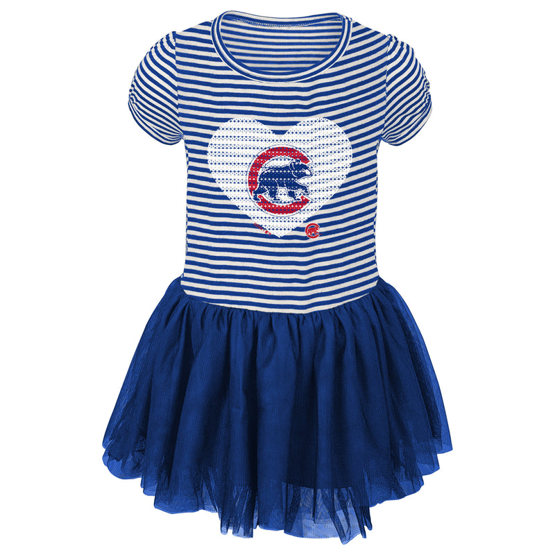 Cubs Infant/Toddler Girls Sequin Tutu Dress