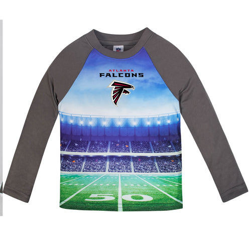 Falcons Long Sleeve Football Performance Tee