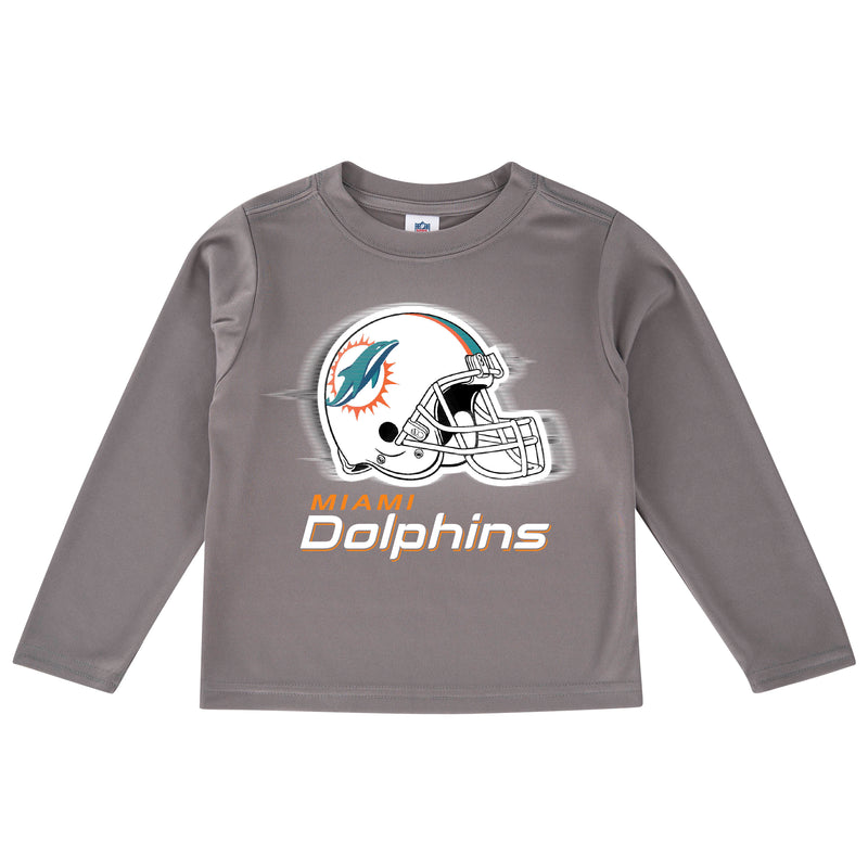 Dolphins Cool Grey Toddler Long Sleeve Logo Tee