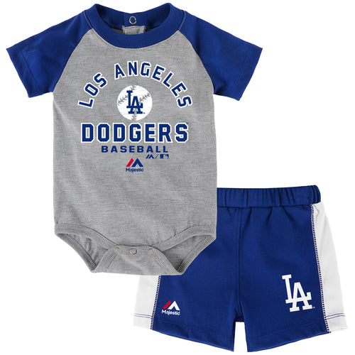 Dodgers Baby Classic Onesie with Shorts Set
