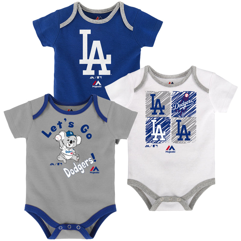 Let's Go Dodgers Creeper 3-Pack