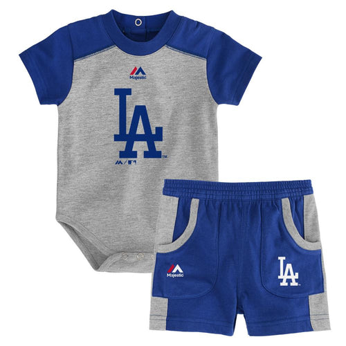 Dodgers Fan Onesie and Short Set
