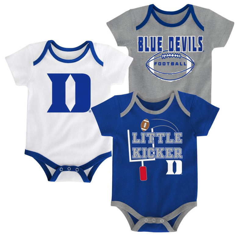 Duke Little Kicker Onesie 3-Pack