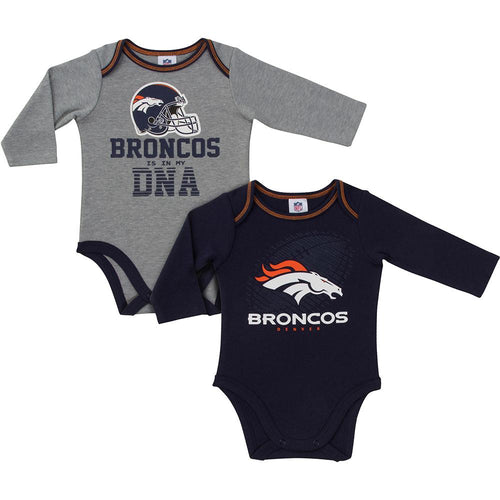 Broncos Baby Boys 2-Pack Long Sleeve Bodysuit