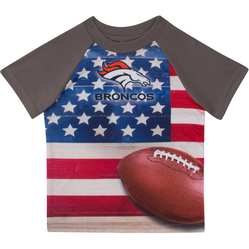 Broncos Short Sleeve Flag Tee