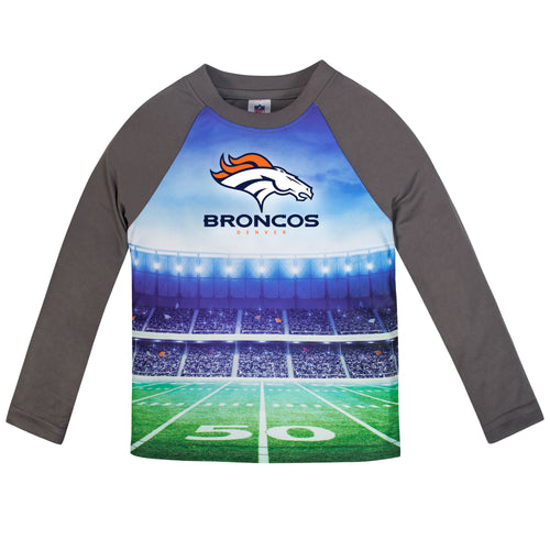Broncos Long Sleeve Football Performance Tee