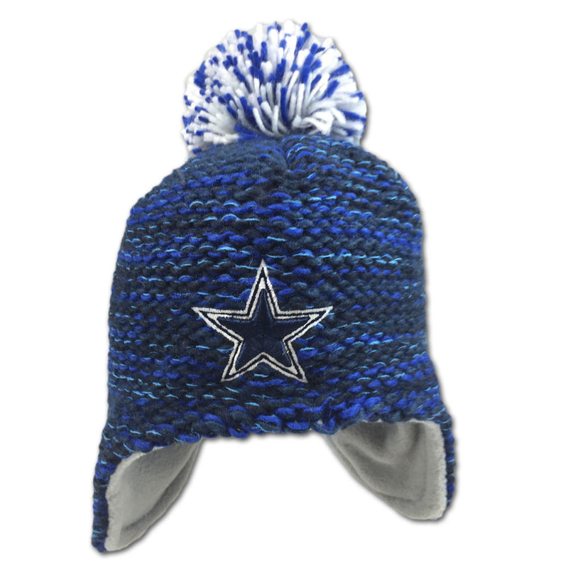 Cowboys Infant Fleece Lined Pom Hat