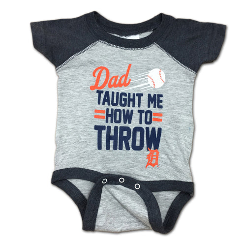"Tigers Baby ""Dad Taught Me"" Bodysuit"