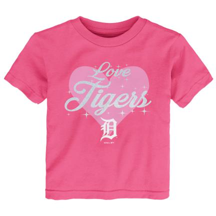 Love the Tigers Pink Short Sleeve Tee