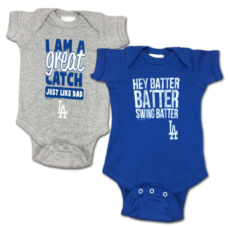 "Dodgers ""Hey Batter"" Bodysuit 2 Pack"