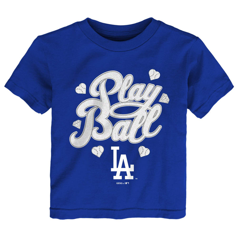 Dodgers Girl Play Ball Tee