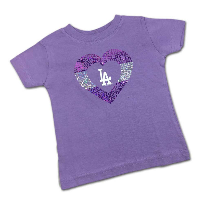 Sparkly Heart Lavender Dodgers Tee