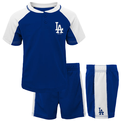 Dodgers Kid Baseball Shirt and Shorts Set