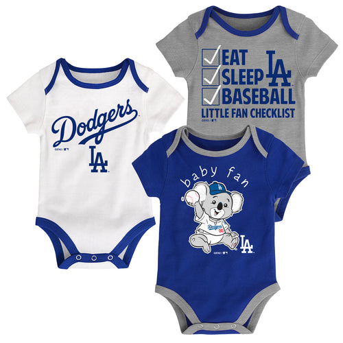 Dodgers Baby Fan Mascot Creeper Set