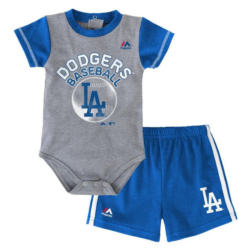 Dodgers Baby Jersey Bodysuit with Shorts