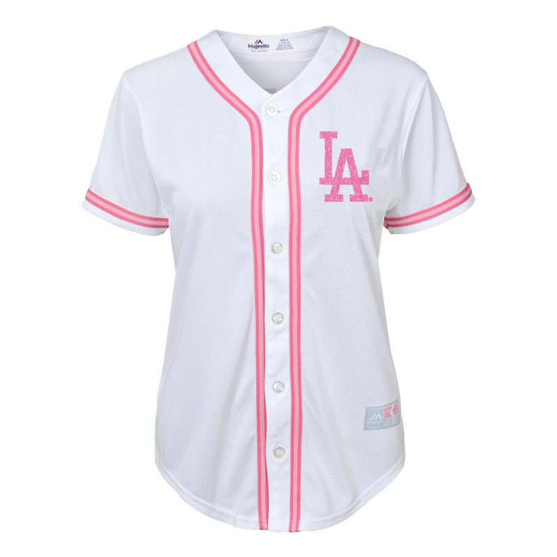 Dodgers Girl Glitter Pink Team Jersey