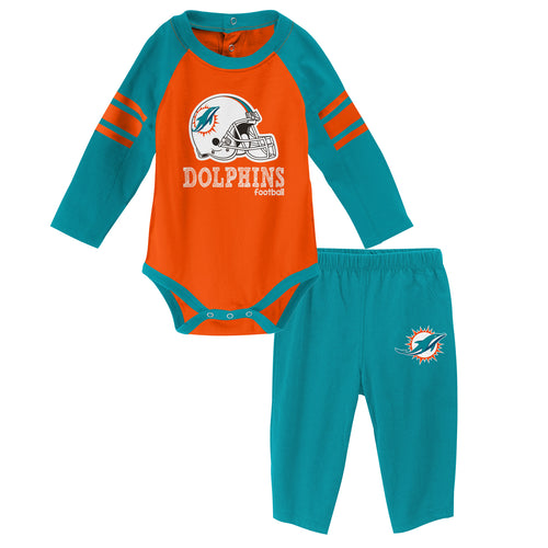 Dolphins Long Sleeve Bodysuit and Pants Outfit