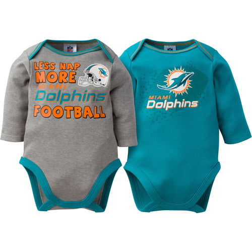 Baby Dolphins Long Sleeve Onesie Two Pack