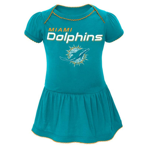 Dolphins Baby Dazzle Bodysuit Dress