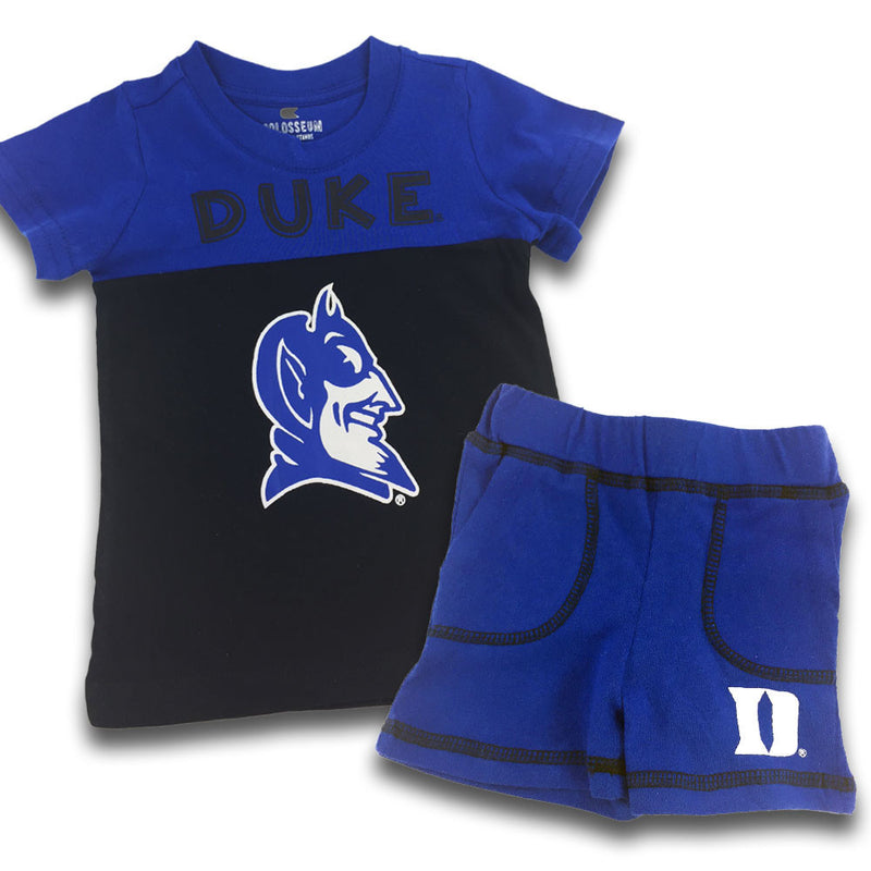 Blue Devils Infant Mascot Shorts and Tee Set