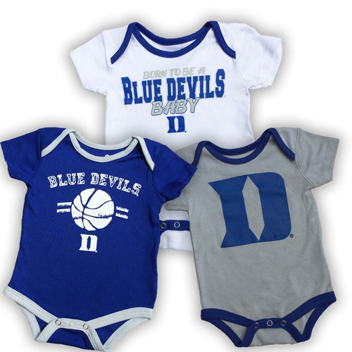 Duke Blue Devils Basketball Onesie 3-Pack