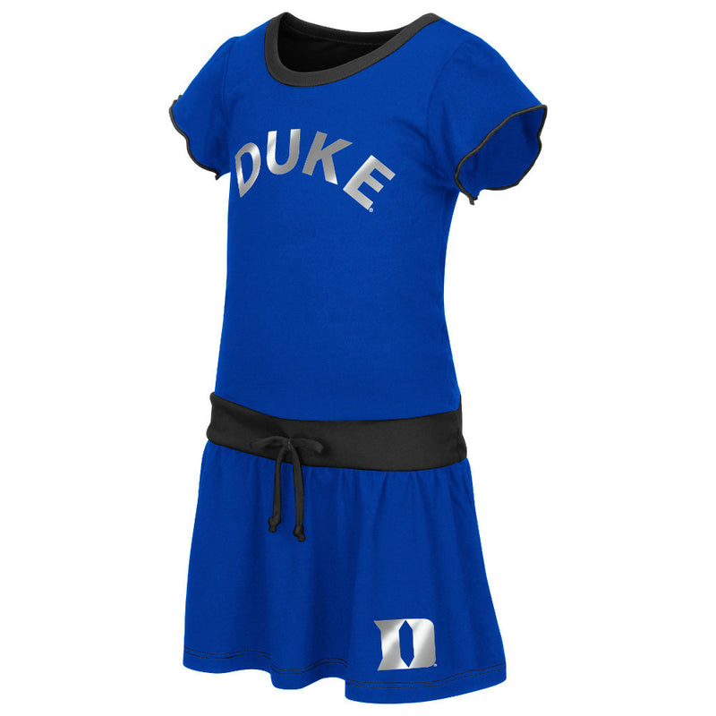 Blue Devils Tot Tie Front Dress