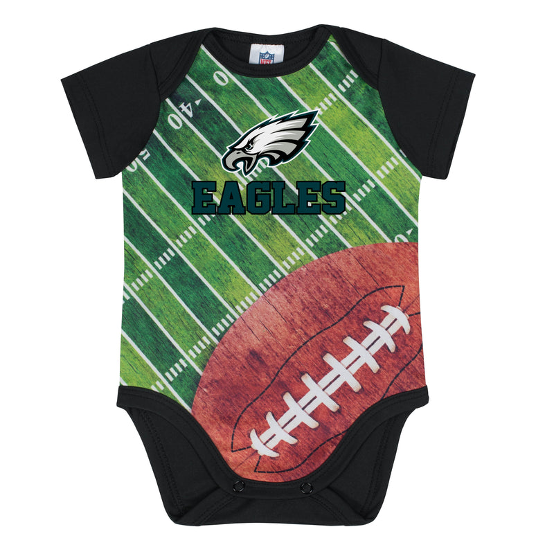 Philadelphia Eagles Baby Boy Short Sleeve Bodysuit