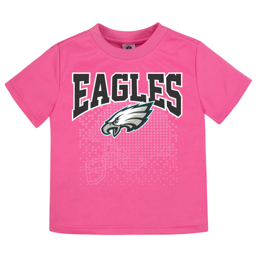 Eagles Girl Short Sleeve Tee in Pink