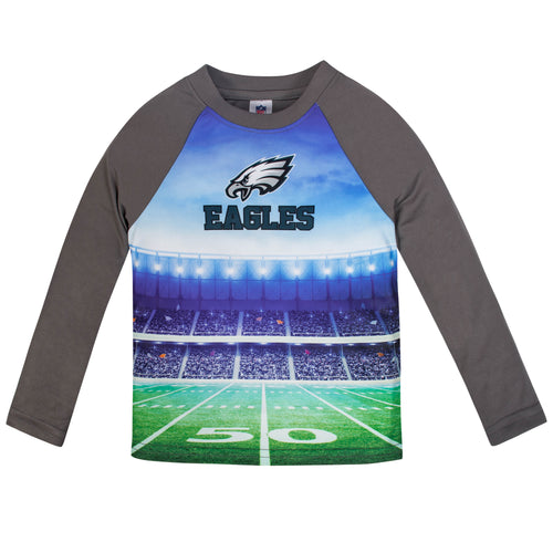 Eagles Long Sleeve Football Performance Tee