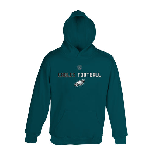 Philadelphia Eagles Youth Boys Hooded Fleece (Kids Sizes)
