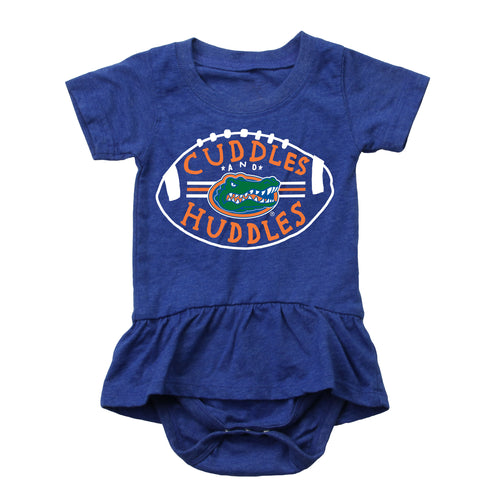 Cuddles and Gators Huddles Baby Girl Skirted Bodysuit